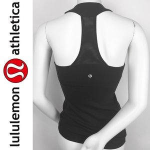 Lululemon | Black Scoop Neck Razorback Mesh Tank 4